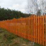 Деревянный штакетник 2м шаг 5см
