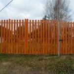 Деревянный 2м ворота 4м и калитка 1м
