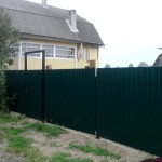 Ворота профнастил 4м с калиткой 1м высота 1,8м
