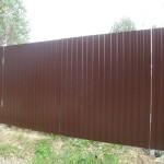 Ворота профнастил 4м высота 2м