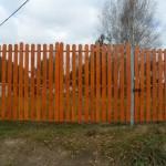Ворота 4м и калитка 1м высота 2м штакетник