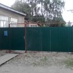 Ворота профнастил 3,5м с калиткой 1м высота 2м