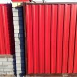 откатные ворота красные