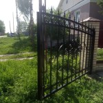 ворота с ковкой