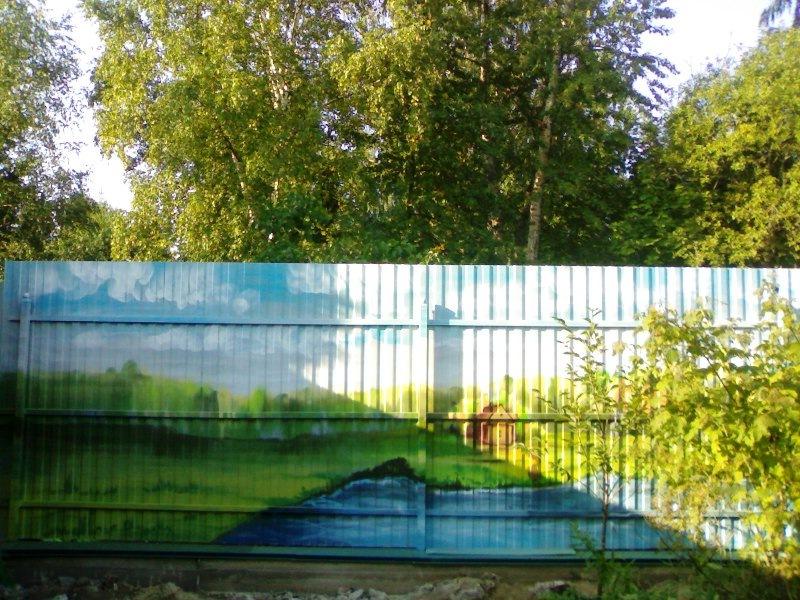Рисунки на заборе - Так Просто! 62