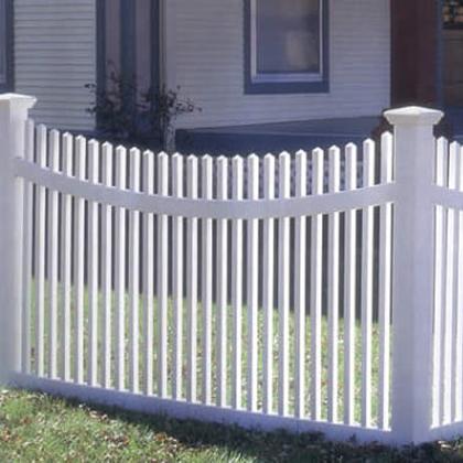 Забор из пвх штакетника